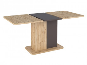 Masa dreptunghiulara extensibila cu blat din lemn Next 110 x 69 x 75 cm maro