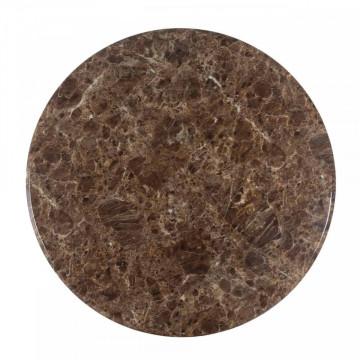 Masa rotunda cu blat din marmura Rollos 76 x 130 x 130 cm