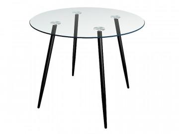Masa rotunda cu blat din sticla Nina 90 cm