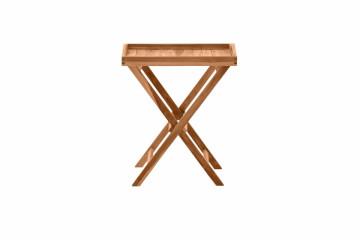 Masuta de cafea dreptunghiulara din lemn de tec pliabila 60x40x65 cm maro
