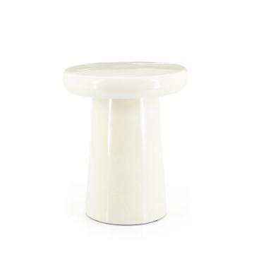 Masuta de cafea rotunda din ceramica Glaze 34x40 cm crem