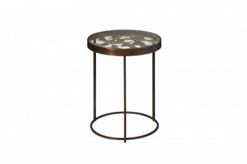 Masuta de cafea rotunda din metal 40x40x53 cm maro
