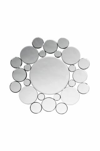 Oglinda rotunda cu rama din cercuri de sticla Sparky