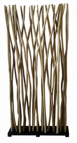 Perete din lemn de tec reciclat Romanteaka 100 x 20 x 200 cm