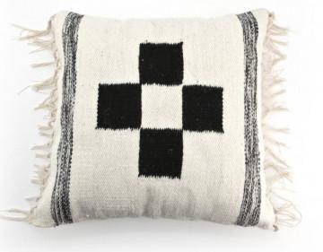 Perna din tesatura wool pattern 50x50 cm neagra/alba