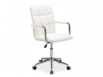 Scaun de birou din piele ecologica Q22 alb