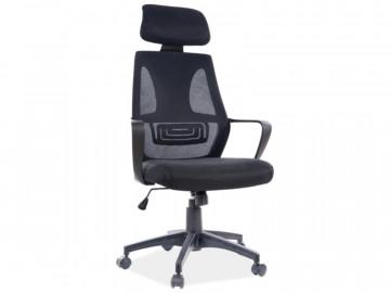 Scaun de birou rotativ tapitat negru