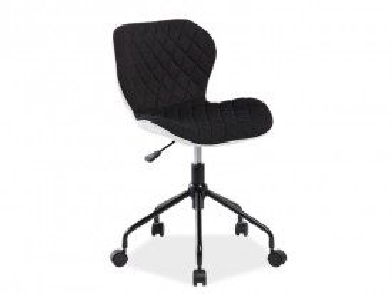 Scaun de birou rotativ tapitat Rino negru
