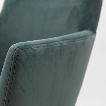 Scaun din catifea Barbara albastru