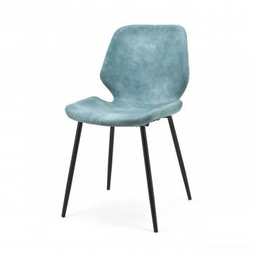 Scaun din piele sintetica Seashell albastru