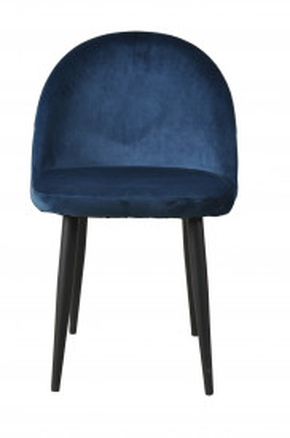 Set 2 scaune catifea Sit&Chairs albastru inchis