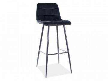 Set 2 scaune de bar din catifea Mila negre
