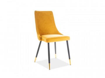 Set 2 scaune din catifea Piano galbene