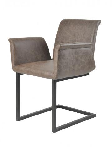 Set 2 scaune piele artificiala maro inchis