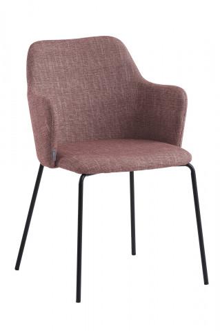 Set 2 scaune tapitate cu cotiere maro