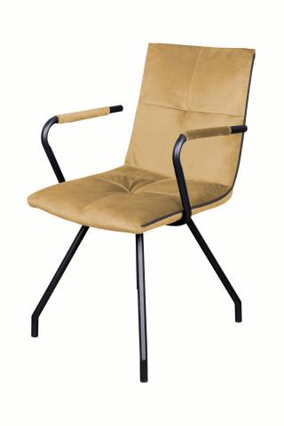 Set 2 scaune tapitate Eaden nisip