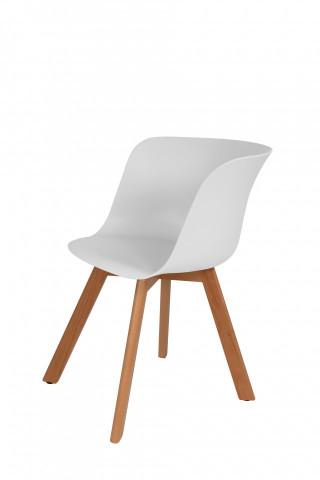 Set 4 scaune Chris albe