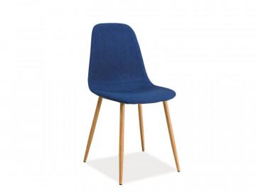 Set 4 scaune tapitate Fox albastru marin