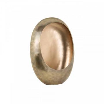 Suport lumanare din metal Majlen, gold