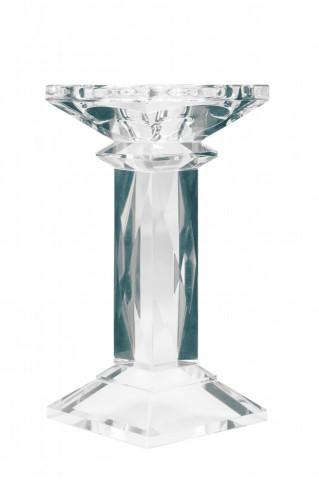 Suport lumanare din sticla de cristal Petunia I, transparent