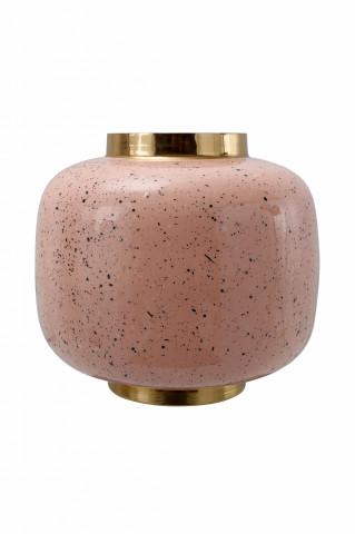 Vaza din fier Art Deco, roz / multicolor