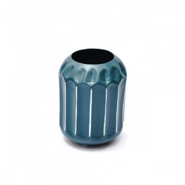 Vaza din metal Wanda, petrol