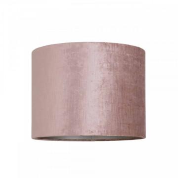 ABAJUR cilindric din polyester Philou roz, diametru 40 cm