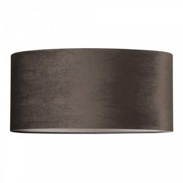 ABAJUR oval din polyester Jaylinn velvet taupe
