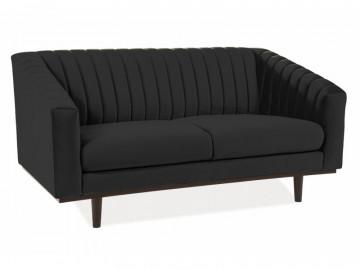 Canapea din catifea Asprey neagra, 2 locuri