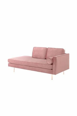 Canapea Estelle roz, 3 locuri, pe dreapta