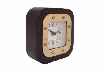 Ceas de masă Moments 5x14x14 cm auriu / negru