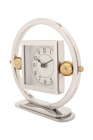 Ceas de masă Moments 5x20x19 cm argintiu