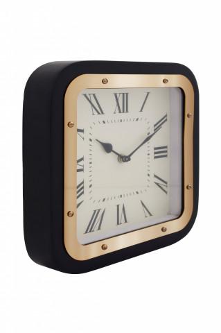 Ceas de perete Moments 6x 28x28 cm negru / auriu