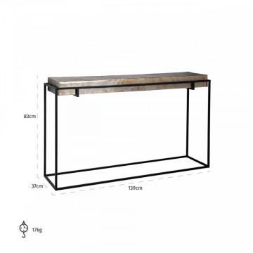 Consola din aluminiu Calloway 139 cm