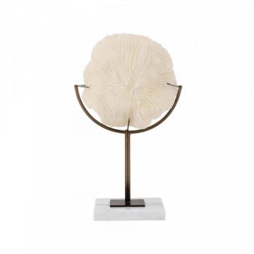 Decoratiune coral din metal Jada, crem