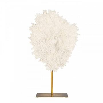 Decoratiune coral din metal Jesse, beige