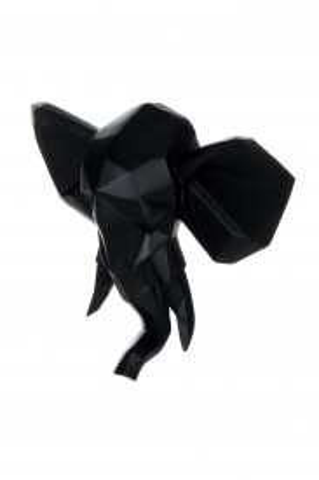 Decoratiune de perete Elephant, negru