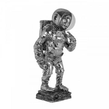 Decoratiune Space Monkey, argintiu