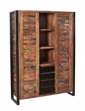 Dulap din lemn reciclat multifunctional MOX 130x180 cm