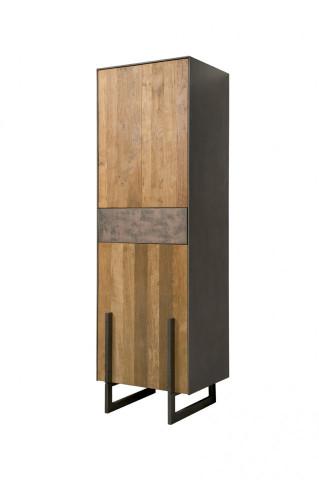 Dulap din tec reciclat - usa pe stanga 57x182 cm