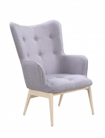 Fotoliu tapițat Sit&Chairs gri deschis