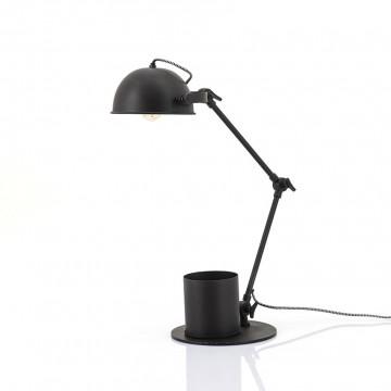 Lampa de birou din fier Hawk neagra