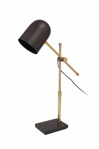 Lampa de birou din otel/alama/fier Celeste, auriu/negru, un bec
