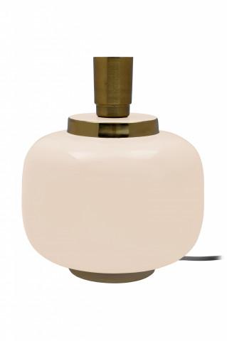 Lampa decorativa din fier, bej/auriu, un bec 20x20x25 cm