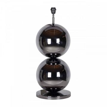 Lampa decorativa din inox/otel Bobbie neagra, un bec