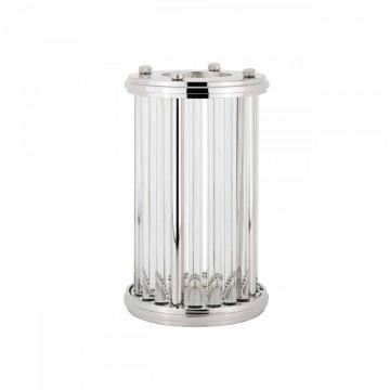 Lampa decorativa mica din aluminiu/sticla Emeray argintie,un bec