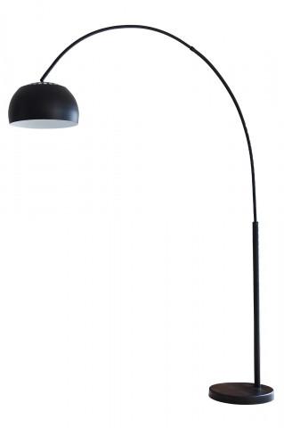 Lampadar din metal/marmura 195 cm negru, 1 bec