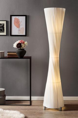 Lampadar din otel/latex 180 cm alb, 3 becuri