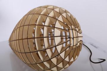 Lustra din lemn Illumination bej, un bec