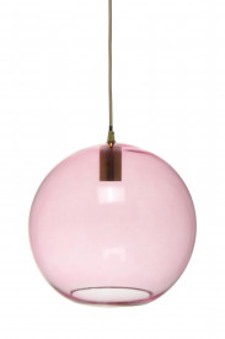 Lustra din sticla Heike roz, un bec